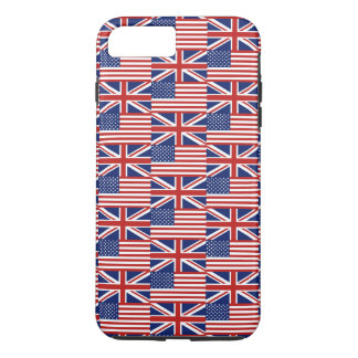 USA and UK Flags iPhone 7 Plus Case