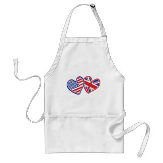 USA and UK In Hearts Showing the Love Standard Apron