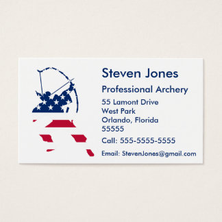 USA Archery American archer flag Business Card