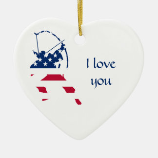 USA Archery American archer flag Christmas Ornament
