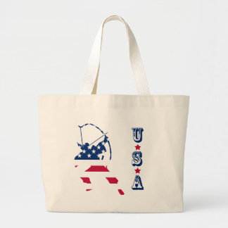 USA Archery American archer flag Large Tote Bag