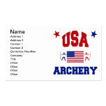 USA Archery Pack Of Standard Business Cards