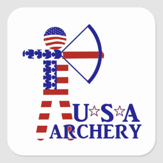 USA Archery Square Sticker