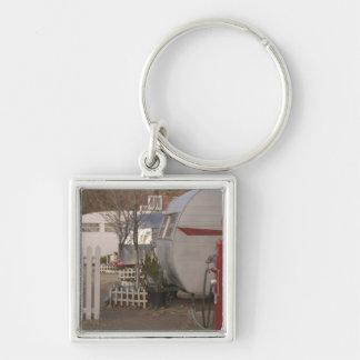 USA, Arizona, Bisbee: Shady Dell Motel, All Silver-Colored Square Key Ring