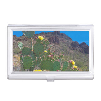 USA, Arizona. Cactus In The Hills Business Card Case