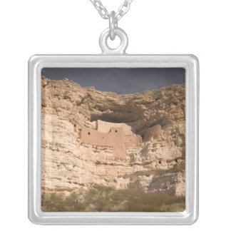 USA, Arizona, Camp Verde: Montezuma Castle Silver Plated Necklace