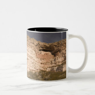 USA, Arizona, Camp Verde: Montezuma Castle Two-Tone Coffee Mug