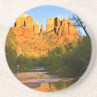 USA, Arizona. Cathedral Rock At Sunset Coaster
