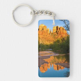 USA, Arizona. Cathedral Rock At Sunset Key Ring