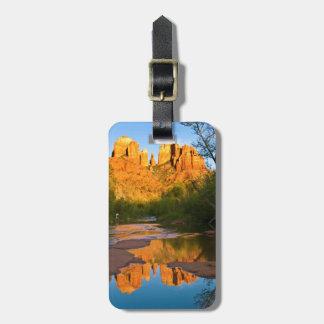 USA, Arizona. Cathedral Rock At Sunset Luggage Tag
