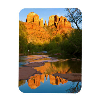 USA, Arizona. Cathedral Rock At Sunset Magnet