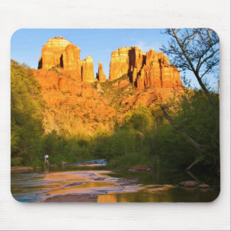 USA, Arizona. Cathedral Rock At Sunset Mouse Mat