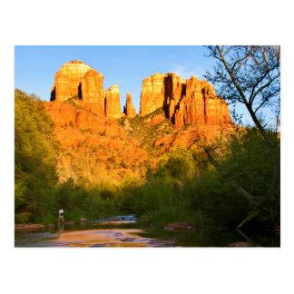 USA, Arizona. Cathedral Rock At Sunset Postcard