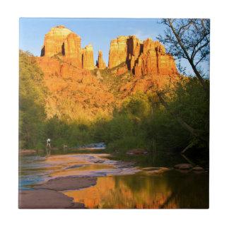 USA, Arizona. Cathedral Rock At Sunset Tile