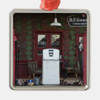 USA, Arizona. Chloride Ghost Town, old gas Christmas Ornament