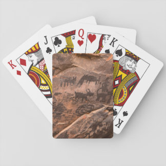 USA, Arizona, Coconino National Forest, Palatki Playing Cards