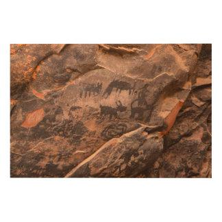 USA, Arizona, Coconino National Forest, Palatki Wood Wall Art