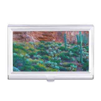 USA, Arizona. Desert Flora Business Card Holder