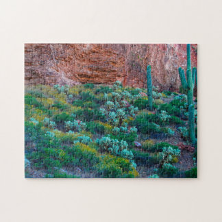 USA, Arizona. Desert Flora Jigsaw Puzzle
