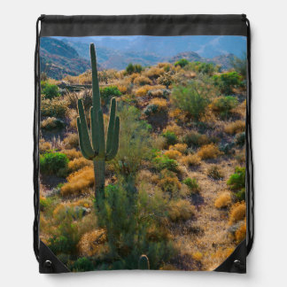 USA, Arizona. Desert View Drawstring Bag