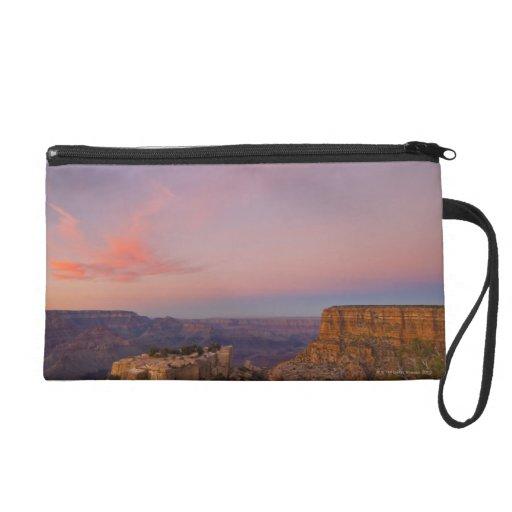 USA, Arizona, Grand Canyon at sunset Wristlet Clutch