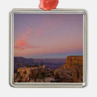 USA, Arizona, Grand Canyon at sunset Silver-Colored Square Decoration