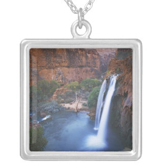 USA, Arizona, Grand Canyon, Havasu Falls Silver Plated Necklace