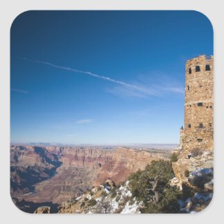 USA, Arizona, Grand Canyon National Park. Desert Square Sticker