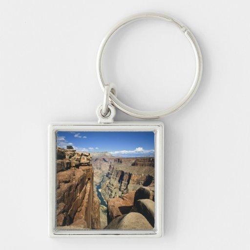 USA, Arizona, Grand Canyon National Park, Silver-Colored Square Key Ring