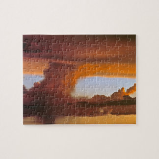USA, Arizona, Grand Canyon NP. Sunset creates Puzzle