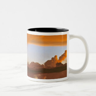 USA, Arizona, Grand Canyon NP. Sunset creates Two-Tone Coffee Mug