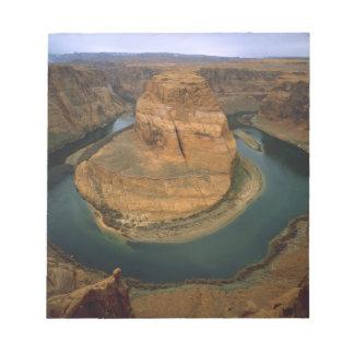 USA, Arizona. Horseshoe Bend showing erosion by Notepad