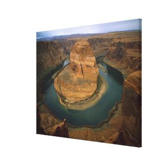 USA, Arizona. Horseshoe Bend showing erosion by Stretched Canvas Print