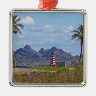 USA, Arizona, Lake Havasu City. Lighthouse next Christmas Ornament