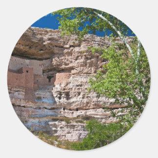 USA, Arizona. Montezuma Castle, The Ruins Round Sticker