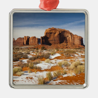 USA, Arizona, Monument Valley Navajo Tribal Silver-Colored Square Decoration