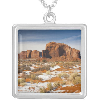 USA, Arizona, Monument Valley Navajo Tribal Silver Plated Necklace