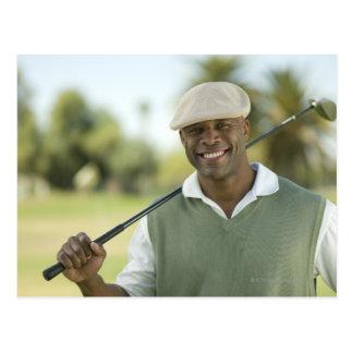 USA, Arizona, Scottsdale, Smiling man on golf Postcard