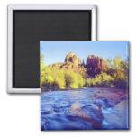 USA, Arizona, Sedona. Cathedral Rock reflecting 2