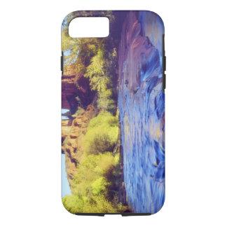 USA, Arizona, Sedona. Cathedral Rock reflecting 2 iPhone 8/7 Case