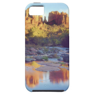 USA, Arizona, Sedona. Cathedral Rock reflecting iPhone 5 Cases