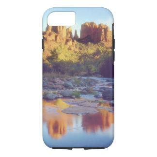 USA, Arizona, Sedona. Cathedral Rock reflecting iPhone 8/7 Case