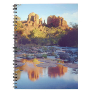 USA, Arizona, Sedona. Cathedral Rock reflecting Notebook