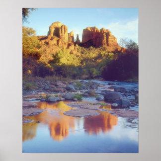 USA, Arizona, Sedona. Cathedral Rock reflecting Poster