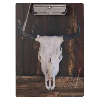 USA, Arizona. Skull On A Shop Wall Clipboard
