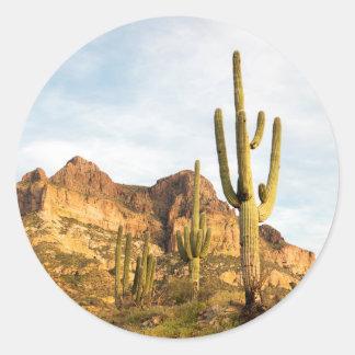 USA, Arizona, Tonto National Forest, Picketpost 2 Classic Round Sticker