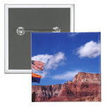 USA, Arizona, Tow flags in Grand Canyon National Pin