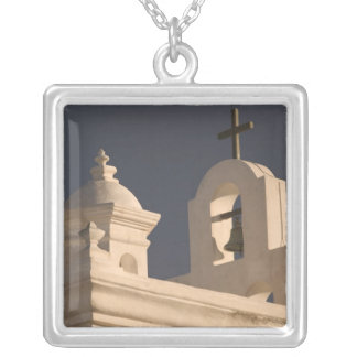 USA, Arizona, Tucson: Mission San Xavier del Bac Silver Plated Necklace