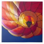 USA, Arizona, Val Vista. A colourful hot-air Large Square Tile