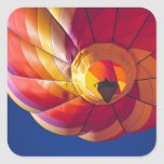 USA, Arizona, Val Vista. A colourful hot-air Square Sticker
